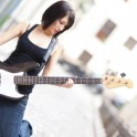Cool Girl as Bassist Player