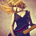 Bassist Player in Action